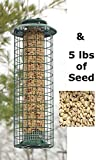 Woodlink Caged Screen Tube Bird Feeder with Peanut Splits