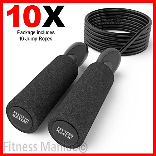 Jump Rope Bulk - 10 Adjustable Jump Ropes - 10ft -