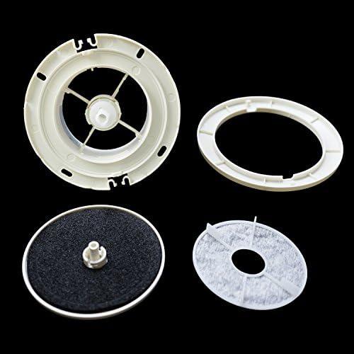 Hon/&Guan /ø100mm Redondo Ajustable Cubierta de Rejilla de Ventilaci/ón de Aire con Filtro de Malla y Silenciador Algod/ón /ø100mm ABS