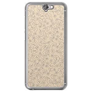 Loud Universe HTC One A9 Floral Decorative Design Transparent Edge Case - Beige