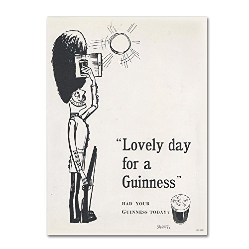- Trademark Fine Art GN0009-C1824GG Lovely Day for A Guinness I by Guinness Brewery Wall Decor, 18x24
