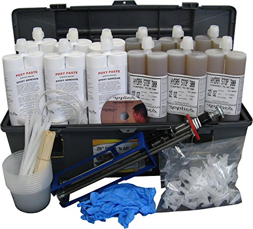 60' Polyurethane Contractor Kit-Stop Water in Leaking Cracks with Polyurethane Injection by Applied Technologies