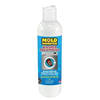 Mold Monster Washer Treatment - Washing Machine & Dishwasher Cleansing Solution - Erases Mold and The Stench of Stagnant Water - 1 Month Supply - Tea Tree Oil Solution - 4oz.