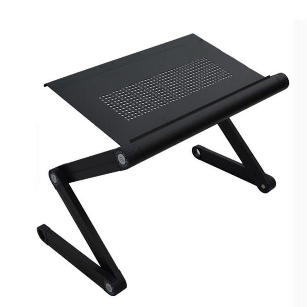 XIAOLIN 折りたたみ式ラップトップデスク、ポータブルラップトップデスク折りたたみ式デスクベッドソファラップトップスタンド折り畳み式コンピュータラップトップテーブル怠惰なテーブルスタディライティングデスクリムーバブルノートブックデスク ( 色 : ブラック ) B07BKQXRZV ブラック ブラック