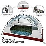 Forceatt Tente 2-4 Personnes Camping, 4 Saison Imperméable Anti UV, Tente Ultra Legere Facile Dôme Double Couchepour… 8