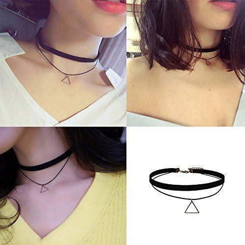 mingjun Pack de 11 Choker Collar Set Negro gótico Lace Stretch Tattoo terciopelo collar cadena para mujeres y niñas: Amazon.es: Joyería