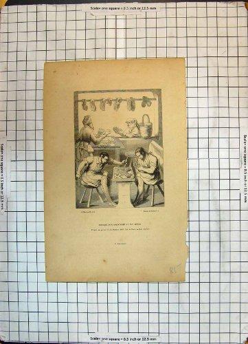 Old Original Antique Victorian Print Boultique D'Un Cordonni