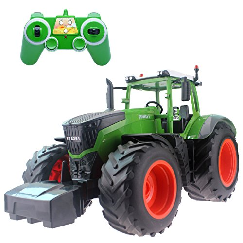 Tractors Model Toy (Fistone RC Truck Farm Tractor 2.4G 1:16 High Simulation Scale Construction Vehicle Remote Control Toy with Lights and Sounds Kids Toy Hobby Model)