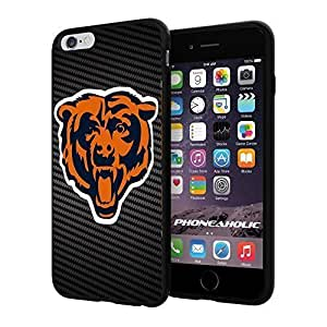 """American Football NFL Chicago Bear , Cool iPhone 6 Plus (6+ , 5.5"""") Smartphone Case Cover Collector iphone TPU Rubber Case Black by mcsharks"""