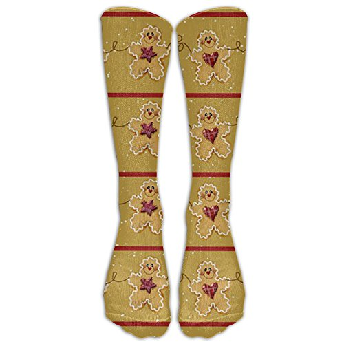 Gingerbread Man Frosting - Gingerbread Man Spandex Stretch Compression Knee Socks Reliability Sports Adults Cartoon Casual Long Tube Crew Socks