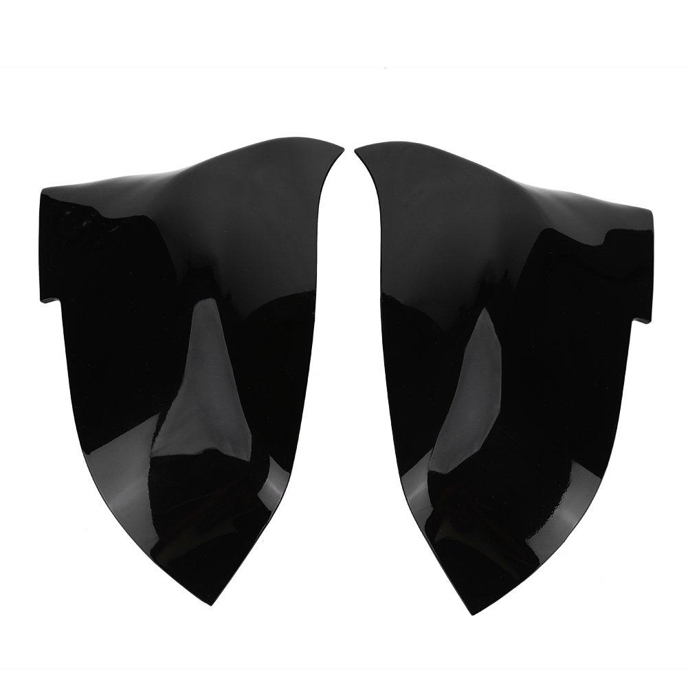 Qiilu 1 Pair Rearview Mirror Cover Cap for BMW 220i 328i 420i F20 F21 F22 F30 F32 F33 F36 X1 E84(Glossy Black)