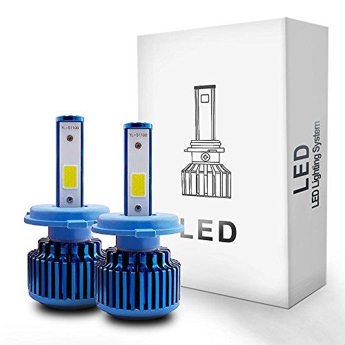 Autolizer LED Headlight Conversion Kit - H4 (9003/HB2) - COB 2-Sided - 60W, 6000LM 6000K Cool White