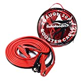 Autofonder Booster Cable 2 Gauge 20Ft 800A Booster Jumper Cables in Carry Bag