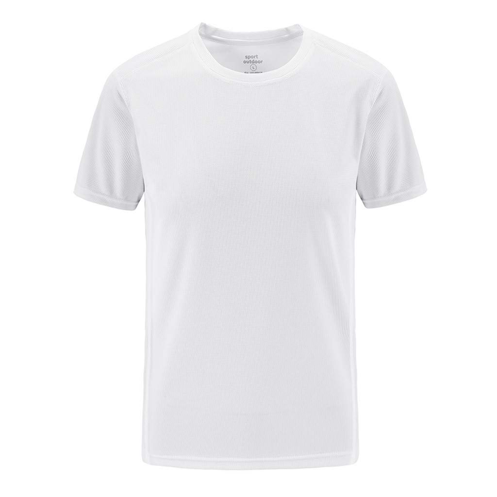 Giulot Men's Classic Regular-Fit Quick Dry Sweat Resistant Outdoor Polo Shirt Tech Stretch Golf T-Shirt White