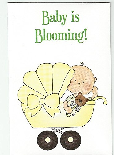 Set of 7 Yellow Baby Shower Mini Seed Packets