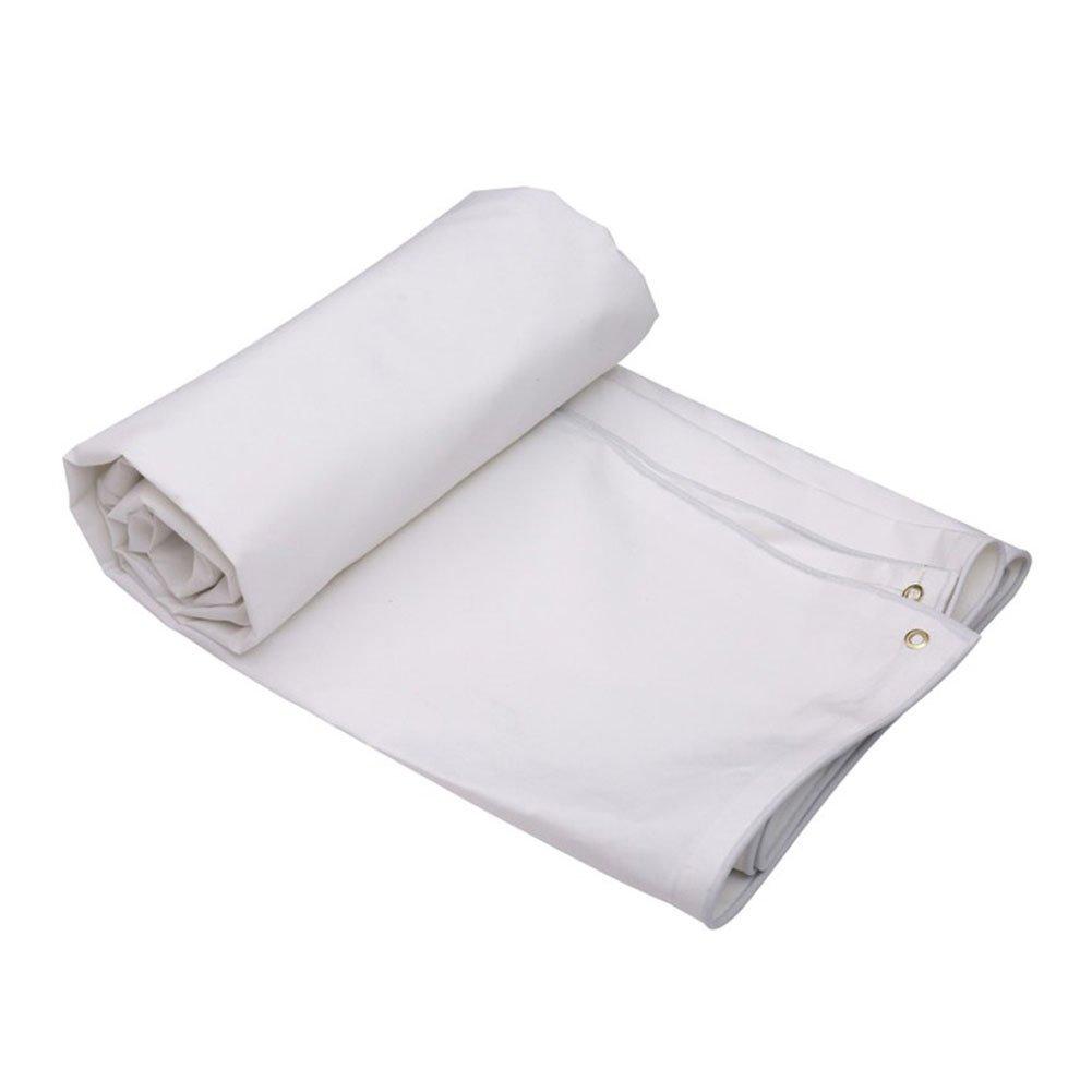 WKLVST Fluffy Cloth White Rain Proof Cloth Sunshade Thickening Encryption Truck Canvas Linoleum Wear-Resisting Heat Insulation Ventilation Antifreeze,600 * 400Cm