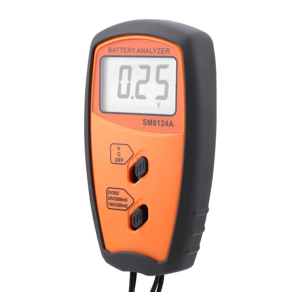 Easy Operation Easy Reading Small Size for Testing Automobiles Battery Voltage Tester Wide Application Resistance Voltmeter