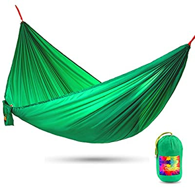 CalmOutdoor Roomy Hammock with 16 ft. EXTRA-long Straps + UP-SIDES Techonogy for Your Privacy, Ultra Compact & Lightweight - just 1 lb, Easy Installation