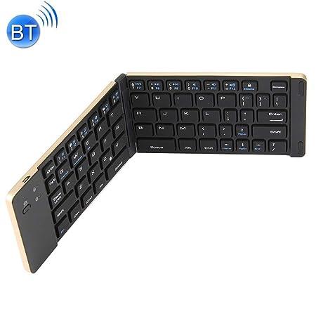 SHANGXIAN Teclado Bluetooth Plegable,Pórtatil Teclado Inalámbrico ...