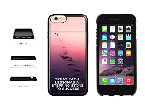 (Motivational Stepping Stone Quote TPU Rubber Silicone Phone Case Back Cover Apple iPhone 6 Plus and iPhone 6s Plus (5.5 inches screen) includes BleuReign(TM) Cloth and Warranty Label)