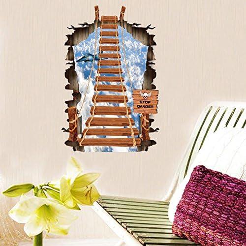 Wapel El Dormitorio Salón Pegatinas Decorativas para Paredes Adhesivo Removible 3D Sky Escalera 70 * 100Cm.: Amazon.es: Hogar