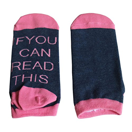 Bepo Unisex Cotton Soft IF You Can Read This Please Bring Me Some Ankle Crew Socks Knitting Word