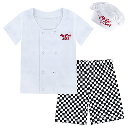 Mombebe Baby Boys' 3 Pieces Chef Short Clothing Set with Hat (0-6 Months, Short Sleeve) by Mombebe (Image #6)