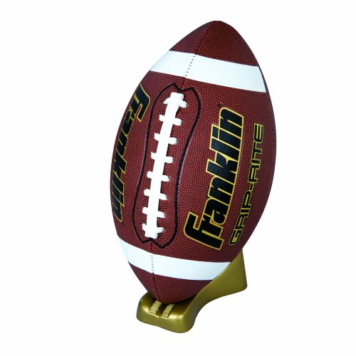 Franklin Sports Grip Rite Gold Pump And Tee Football Set  Junior Size