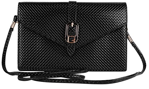Black Elegant Diamond Women Clutch Bag for Blackberry Passport/Classic ()