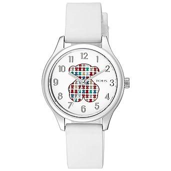 Reloj Tous 900350235 Tartan Kids de Acero con Correa de Silicona Blanca: Amazon.es: Relojes