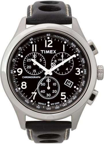 Timex Men's T2M552 T Series Chronograph Leather Watch