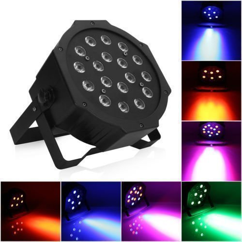 Lightess Par Lights 18LED Stage Light RGB Effect Lighting Sound Activated Stand Lamp with DMX512
