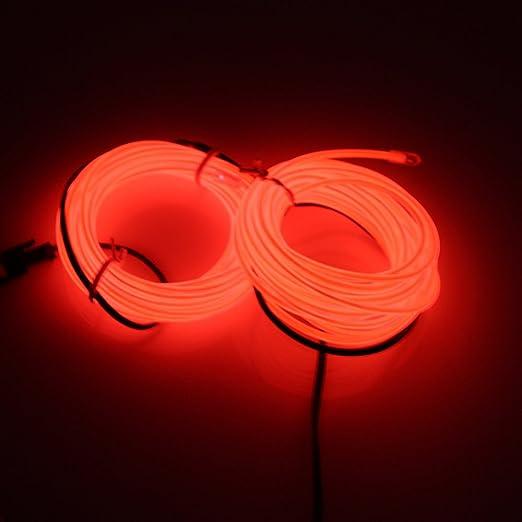 Lerway 5M Neno Carteles Led Luces,Mangueras Flexibles LED Luz para Decoración Hogar Cocina Acuario Accesorios Baño Bicicleta Suelo Camping Cartel Bar,Fiesta ...