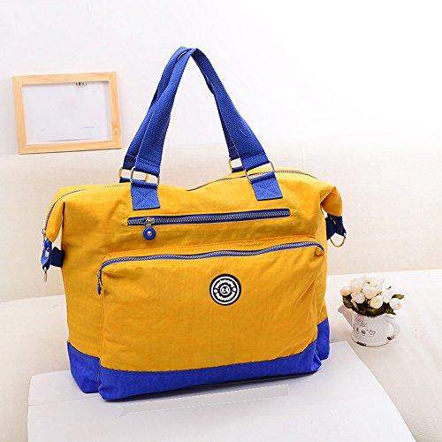 Bolso de madre impermeable de gran capacidad multifuncional, bolso de la momia, bolso portable ligero del bebé de la madre del hombro ( Color : Purple ) Amarillo