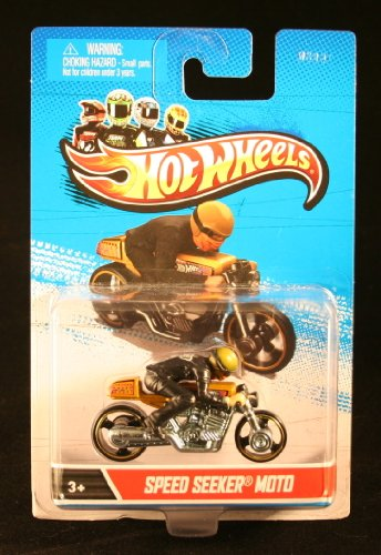 SPEED SEEKER MOTO (Gold / Chrome / Black) * MOTORCYCLE & RIDER * Hot Wheels 1:64 Scale 2012 Die-Cast Vehicle