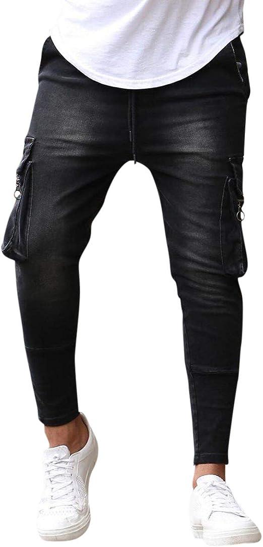 AOWOFS ダメージデニムパンツ メンズ ジーンズ スキニーパンツ ロングパンツ ジーパン ズボン 通気 ポケット多い