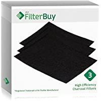 3 - FilterBuy Fellowes AeraMax 300 Replacement Carbon Filters, Part 9324201. Designed by FilterBuy to fit AeroMax 300 Air Purifiers.
