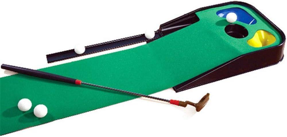 Golf para Niño Campo de Hierba Mat Set Interior y Exterior ejercer la Pelota Muchacha del Muchacho Deportes Juguetes Juguetes de Golf Regalo Chico Chica (Color : Green, Size : Free Size):