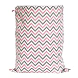 Zack & Tara Wet Bag - Chic Chevrons in Pink & Grey - Large