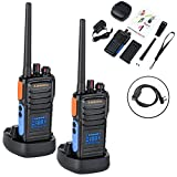 Two Way Radio with Hidden Display LSENG T-328 UHF Analog Walkie Talkie with 1 PC USB Programming Cable (Pack of 2)