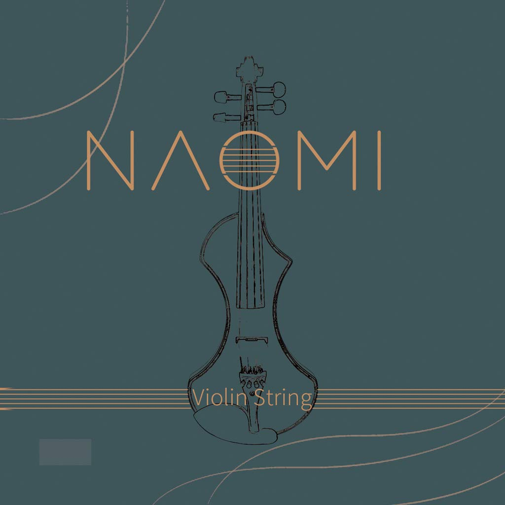 NAOMI Violin String for 4/4 3/4 Violin Strings Violin Strings Steel Strings G D A and E Strings Beginner,Student Violin Replacement Violin Parts Accessories