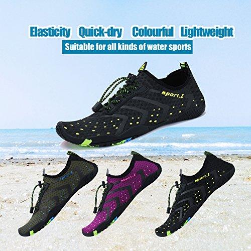 Mayzero Sur Natation Schage Chaussures Rapide La Piscine noir Plage Femmes Pour Barefoot Aqua Swim Surf D'eau Yoga Exercise 76 qrrxnO