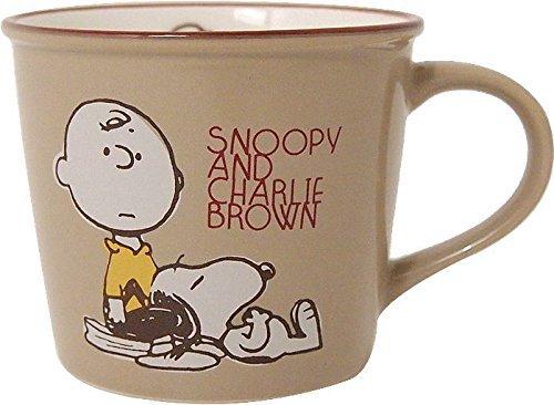 Vintage Snoopy Peanuts (Made in Japan Snoopy Peanuts Vintage Design Mug Cup Brown Color)