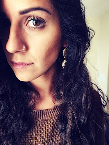 Swarovski crystal Indian nose ring. Septum. Handmade. Gift. Women. Jewelry. Gold. Nose hoop. Bohemian.Stone. Crystal. Statement Ring.
