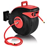COSTWAY 3/8 x 100' Retractable Auto Rewind Air Hose Reel Tools Compressor 300 PSI Garage For Auto Repair