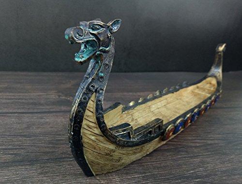 Sufany Dragon Boat Resin Incense Stick Burner Holder Handwork Vintage Decoration Style1