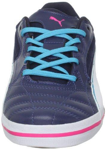 Puma - - Hombres Momentta Vulc Sala Zapatos Peacoat-Wht-Blue-At-Fl Pink
