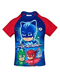 Pj Masks Boys Summer Protection Swimming T Shirt - Spring Summer Collection