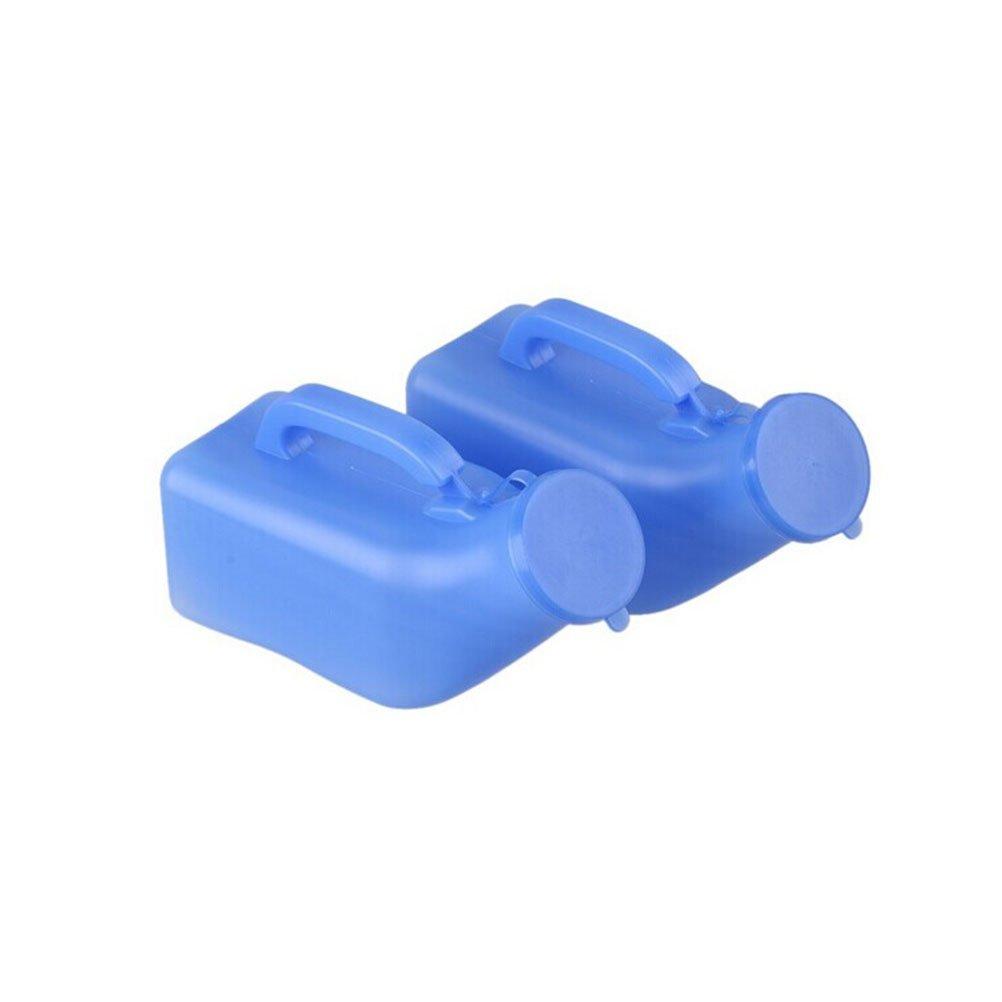 VORCOOL 2pcs 1000ml Camping Travel Car Toilet Urinal Pee Bottle (Blue)