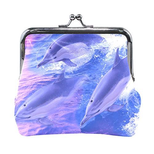81a42cc18522 Coin Purse Dolphin Womens Wallet Clutch Bag Girls Small Purse